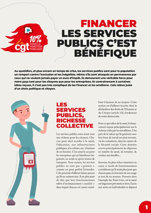Tract : Financer les services publics c'est bénéfique